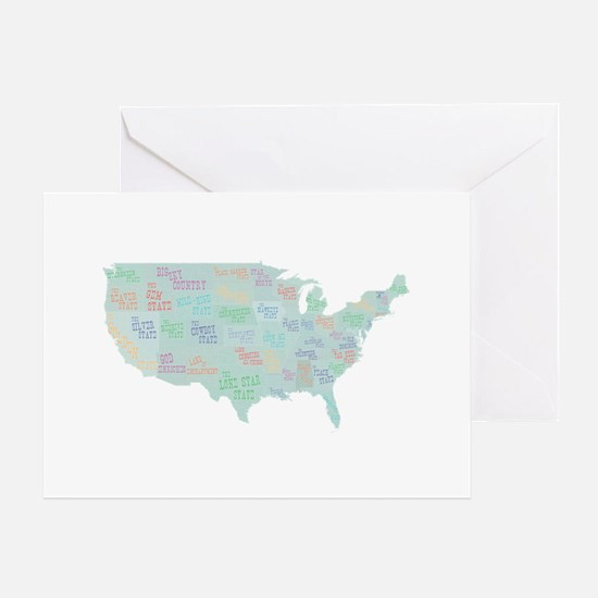 State Mottos Greeting Card