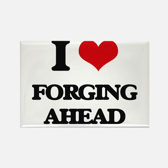 I Love Forging Ahead Magnets