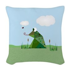 Froggie Woven Throw Pillow