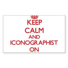Keep Calm and Iconographist ON Decal
