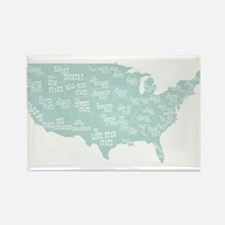 State Mottos Rectangle Magnet