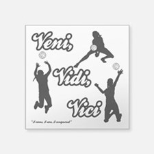 "VENI-VIDI-VICI Square Sticker 3"" x 3"""