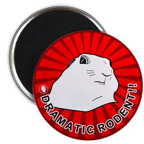 """Dramatic rodent / chipmunk . 2.25"""" Magnet (100 pac"""