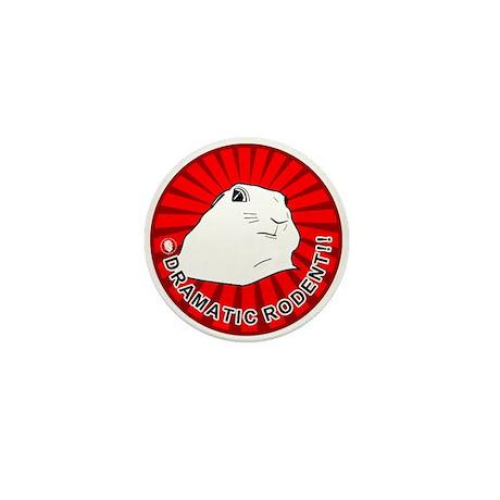 Dramatic rodent / chipmunk . Mini Button