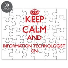 Keep Calm and Information Technologist ON Puzzle