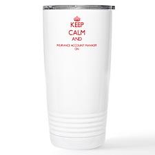 Keep Calm and Insurance Travel Mug