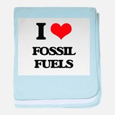 I Love Fossil Fuels baby blanket