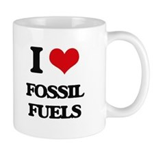 I Love Fossil Fuels Mugs