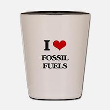I Love Fossil Fuels Shot Glass
