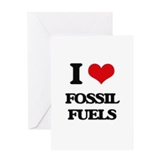 I Love Fossil Fuels Greeting Cards