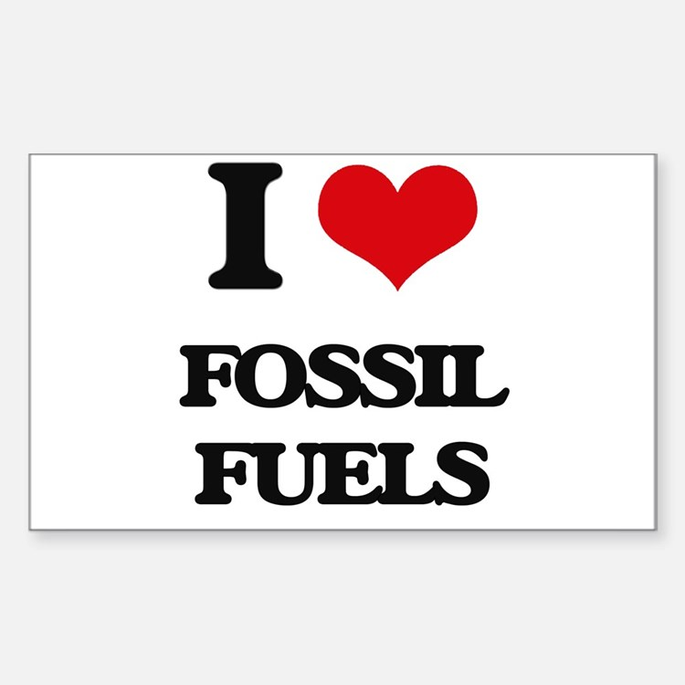 I Love Fossil Fuels Decal