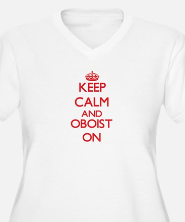 Keep Calm and Oboist ON Plus Size T-Shirt