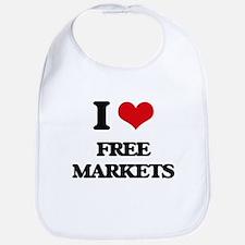 I Love Free Markets Bib