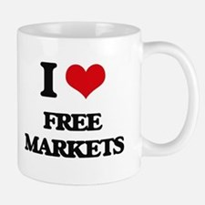I Love Free Markets Mugs