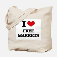 I Love Free Markets Tote Bag