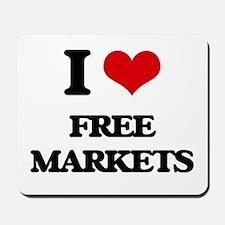 I Love Free Markets Mousepad