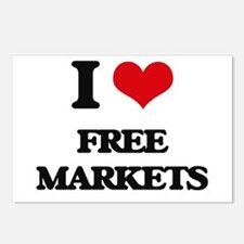 I Love Free Markets Postcards (Package of 8)