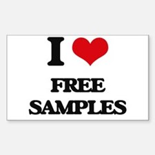 I Love Free Samples Decal