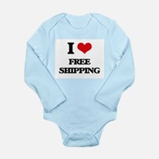 I Love Free Shipping Body Suit