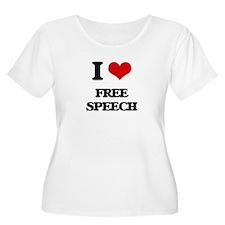 I Love Free Speech Plus Size T-Shirt