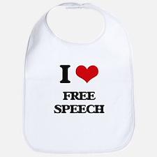 I Love Free Speech Bib
