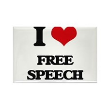 I Love Free Speech Magnets