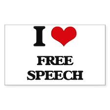 I Love Free Speech Decal