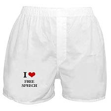 I Love Free Speech Boxer Shorts