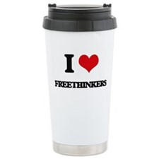 I Love Freethinkers Travel Mug