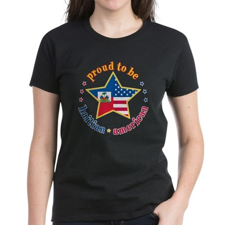Women's Dark T-Shirt/Proud to Be Haitian