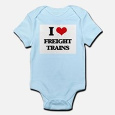 I Love Freight Trains Body Suit