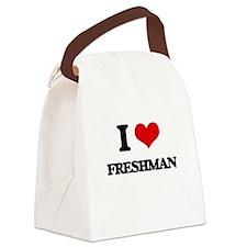 I Love Freshman Canvas Lunch Bag
