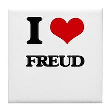 I Love Freud Tile Coaster