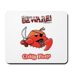 Crabby Pirate Mousepad