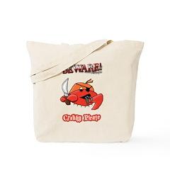 Crabby Pirate Tote Bag