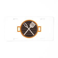 BBQ Grill Aluminum License Plate