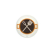BBQ Grill Mini Button (100 pack)