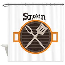 Smokin BBQ Shower Curtain