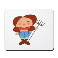 Farmer Girl Mousepad