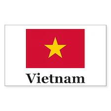 Vietnam Rectangle Decal