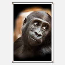 Smiling Gorilla Baby Banner