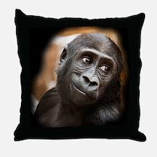 Smiling Gorilla Baby Throw Pillow