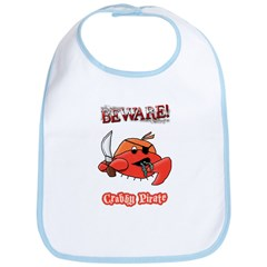 Crabby Pirate Bib