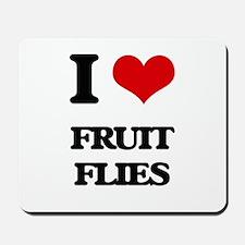 I Love Fruit Flies Mousepad