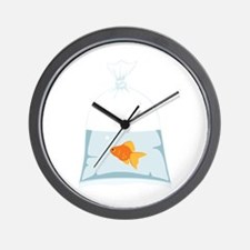 Goldfish In Bag Wall Clock