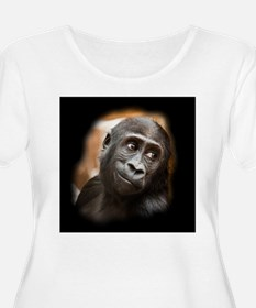 Smiling Gorilla Baby Plus Size T-Shirt