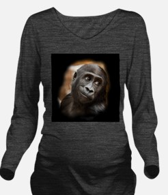 Smiling Gorilla Baby Long Sleeve Maternity T-Shirt