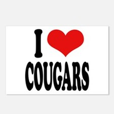 I Love Cougars Postcards (Package of 8)