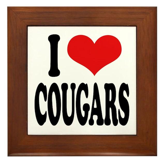 I Love Cougars Framed Tile by ilovethisshirt