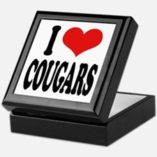 I Love Cougars Keepsake Box